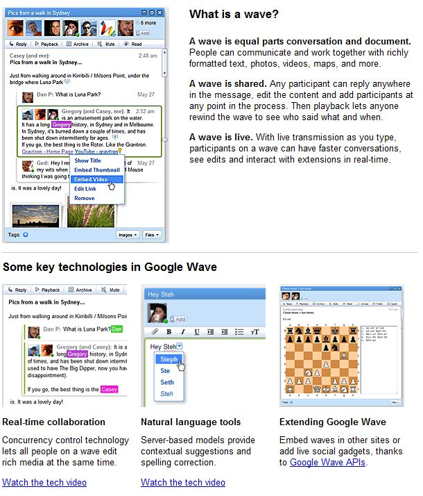 Google Wave applications and their opportunity for real estate