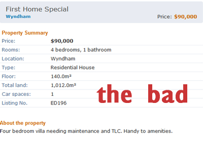 Example of bad listing