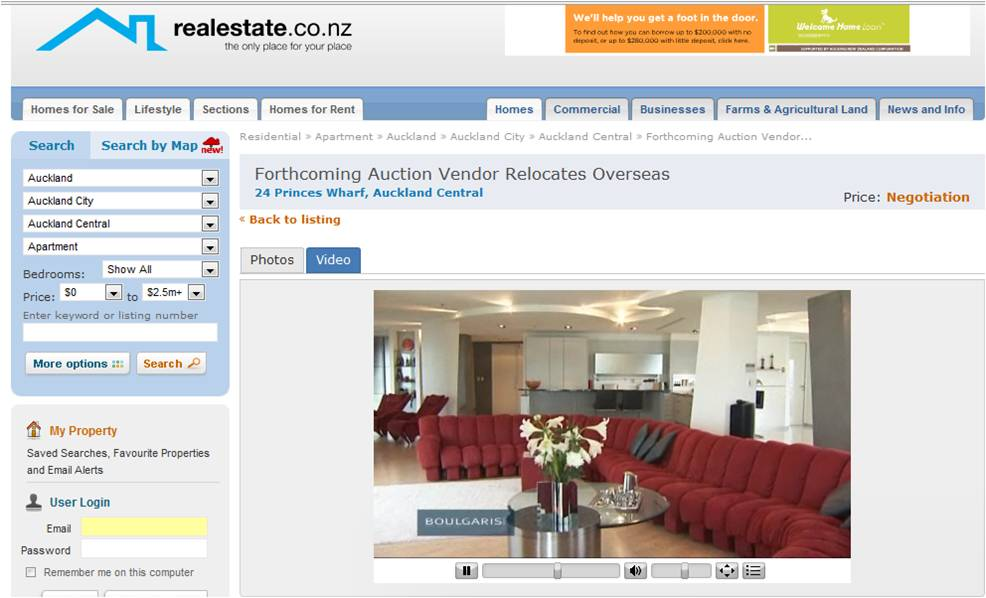 Realestate.co.nz video