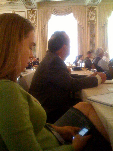 Twittering at the Connect conference